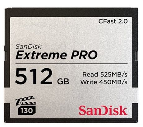 512GB CFast 2.0 ARRI Edition Memory Card 525/450MB/s