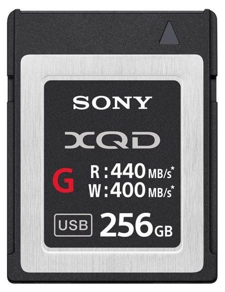 Sony 256GB XQD G Series Memory Card 440-400MB-s 3-2