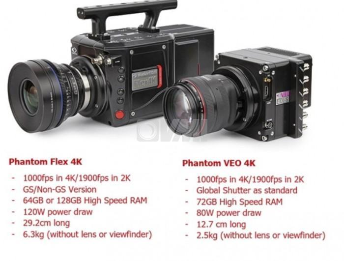 Phantom VEO 4K High-Speed Super Slow Motion Camera (High Speed camera hire London