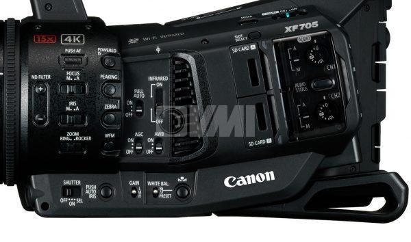 Canon XF705 Camera Side